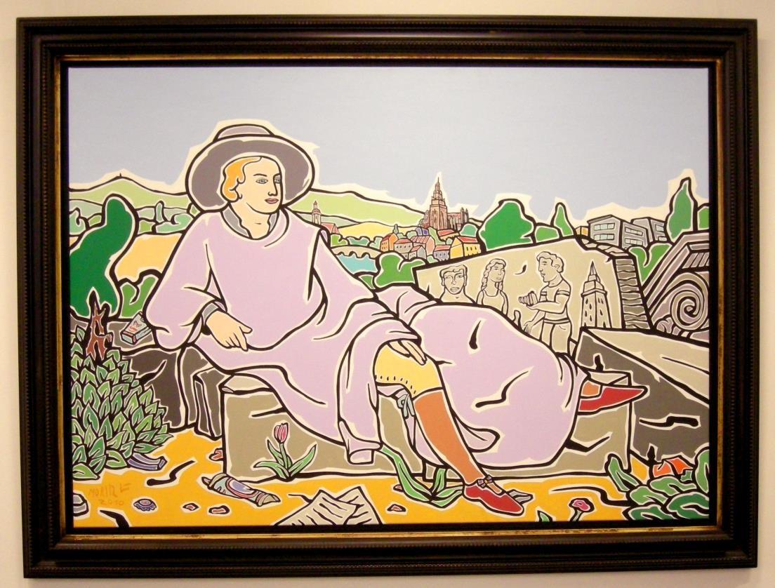 Goethe in Wetzlar auf Leinwand