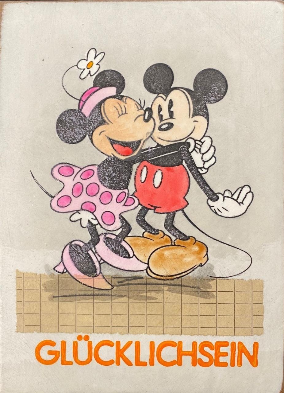 Glücklichsein - Mickey und Minnie