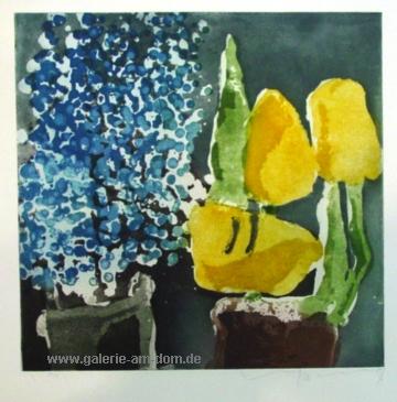 Vergissmeinnicht und Tulpen 1998
