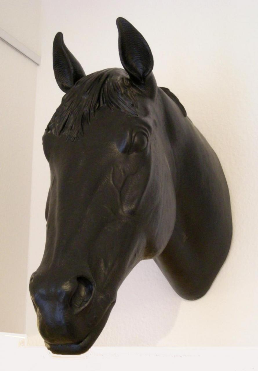 Pferdekopf - schwarz, signiert