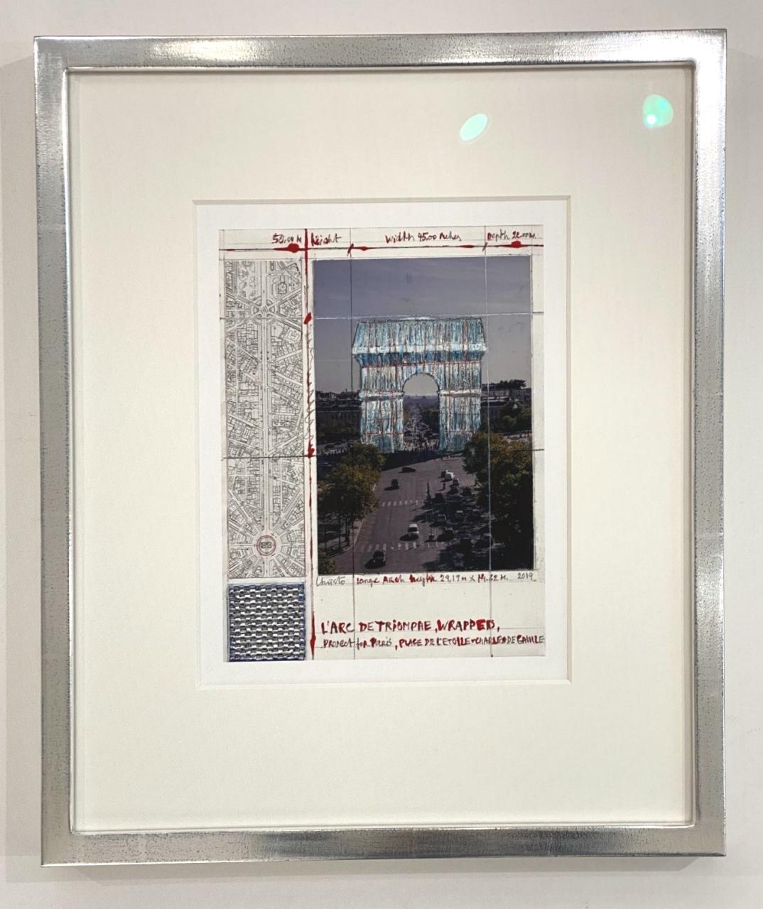 L'Arc De Triomphe II, Wrapped, gerahmt im Studiorahmen