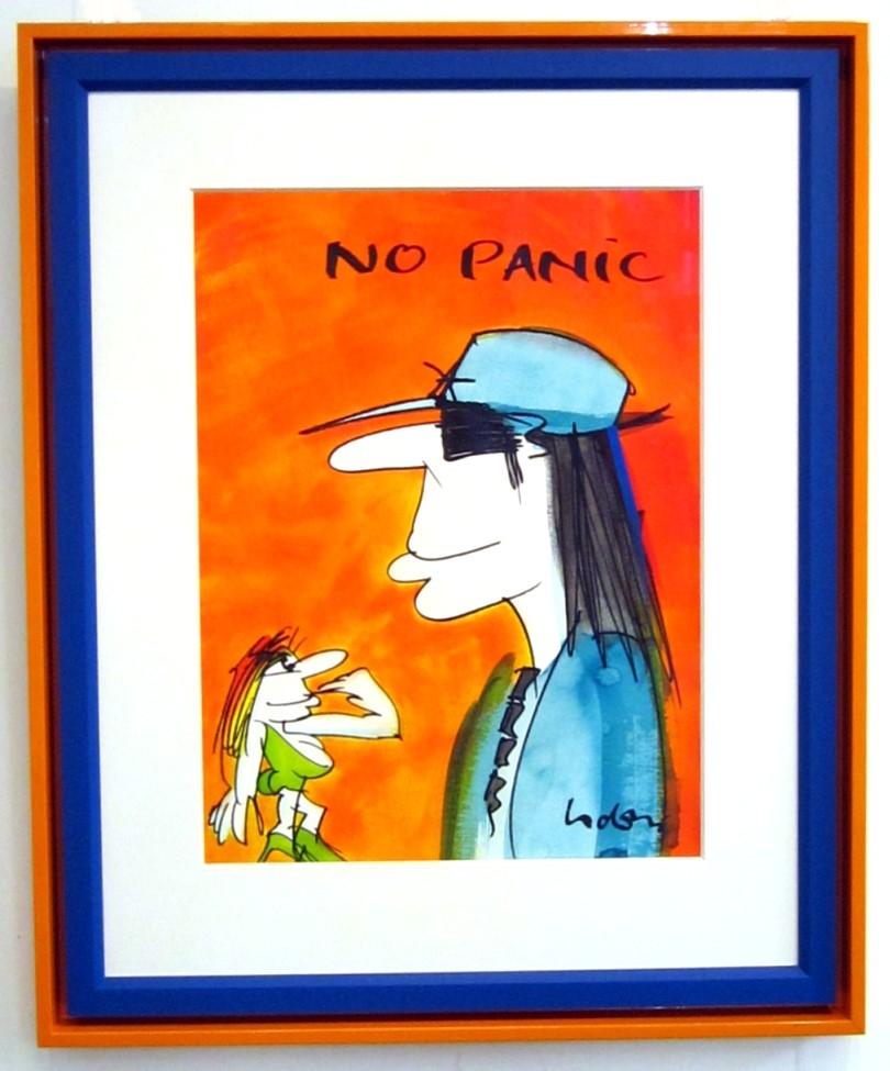 No Panic (Porträt) 4, gerahmt