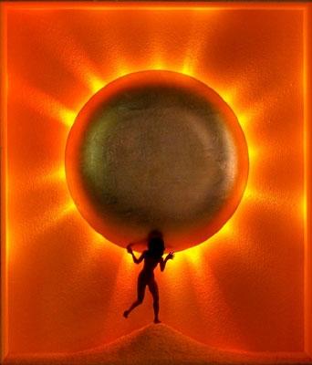 Sonnenanbeterin II (mit Beleuchtung)
