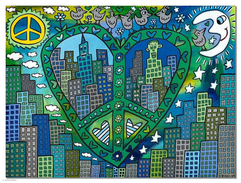 Green peace with a touch of love