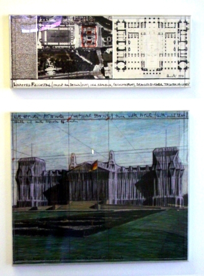 Wrapped Reichstag Berlin 1994 c