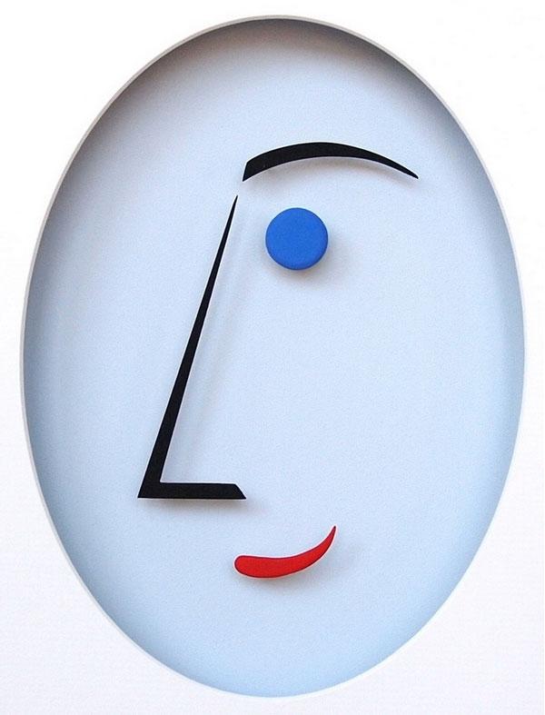 Punkt und Linie 13 (Gesicht)