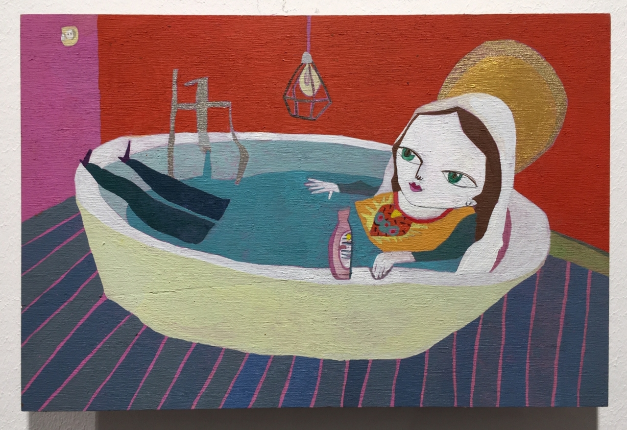Maria in der Badewanne
