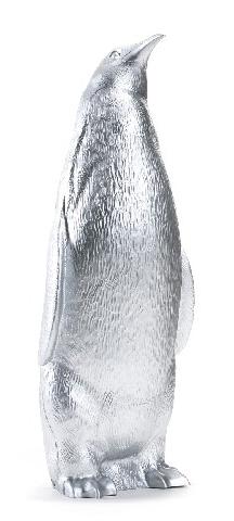 Pinguin aufrecht - silber, signiert