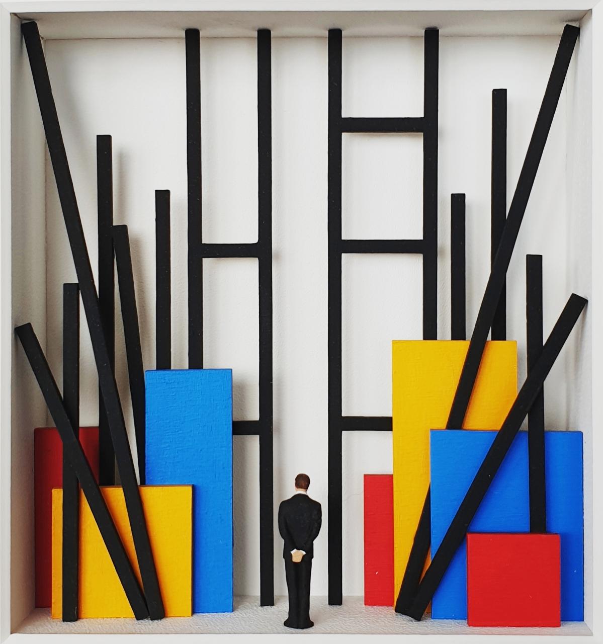 Construction of Mondrian - Homage à Mondrian