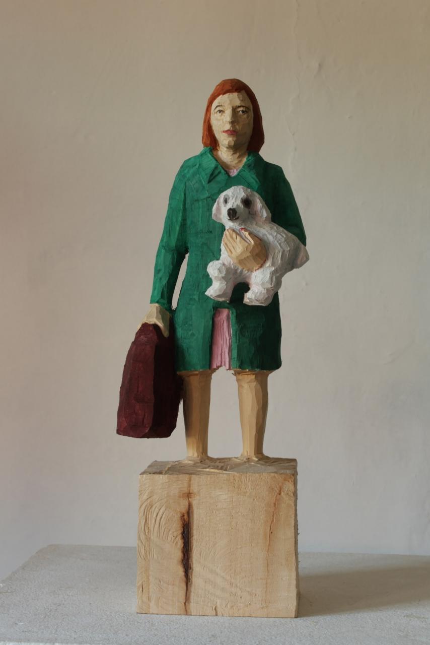 Edekafrau (1264) mit Pudel