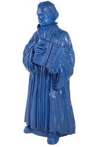 Martin Luther - kobaltblau, signiert