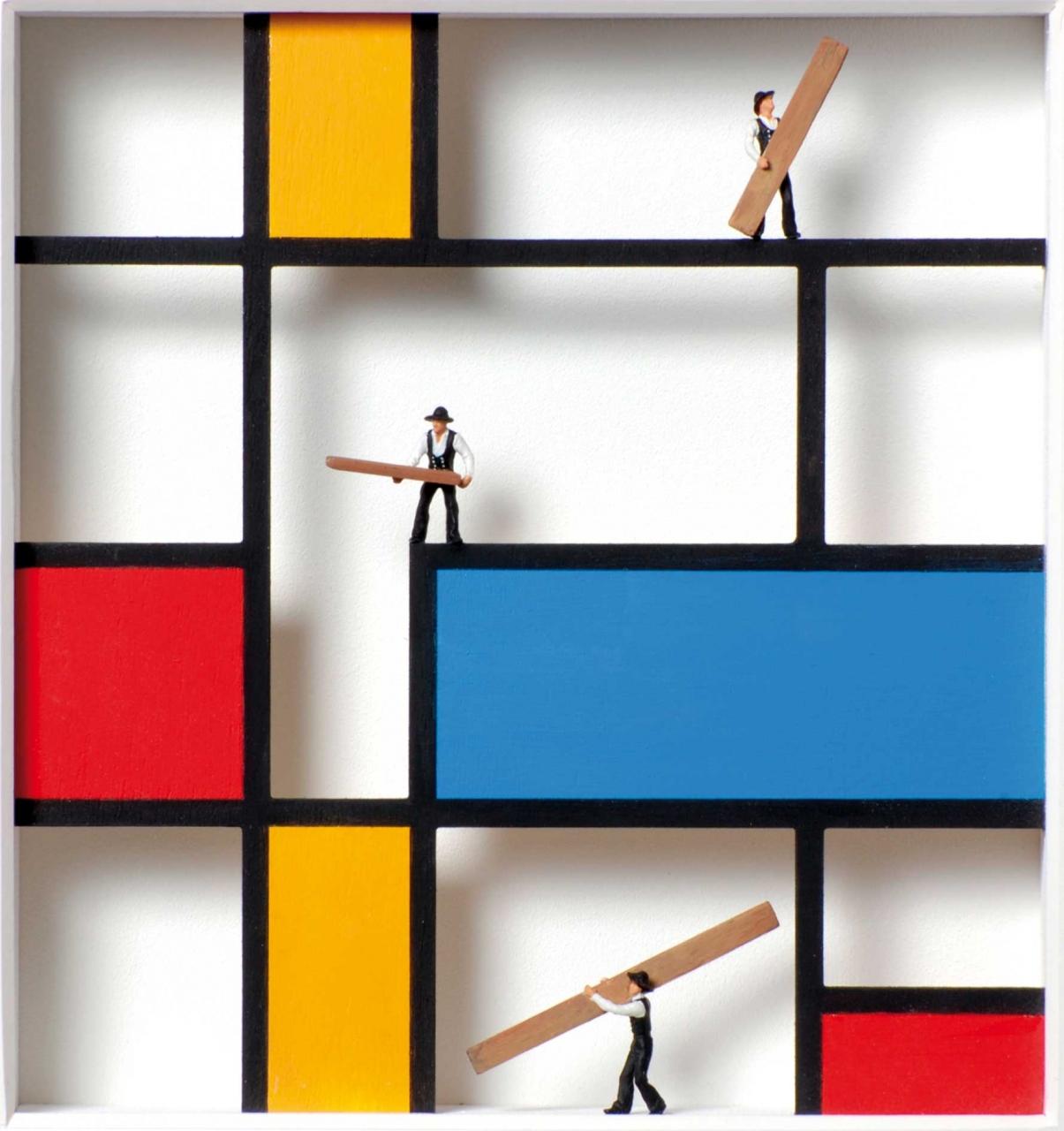 Homage to Piet Mondrian - Wir zimmern uns einen Mondrian