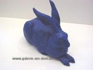 Dürers Hase - blau