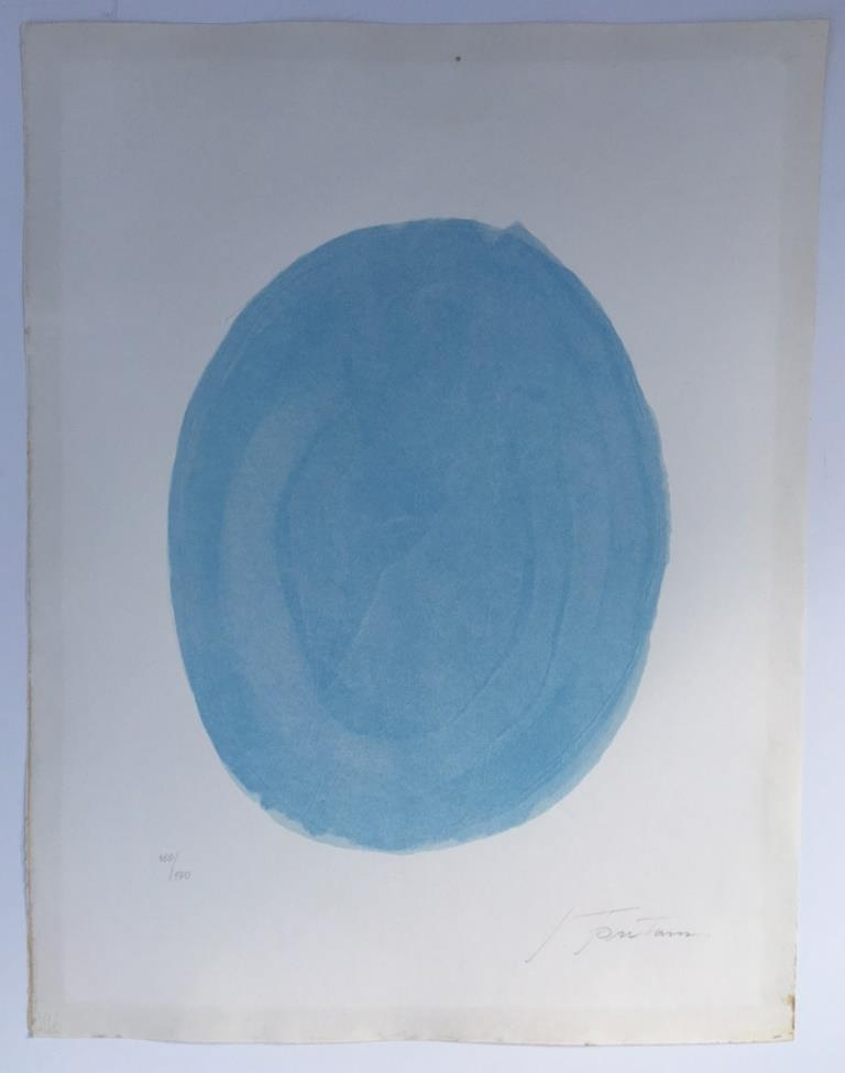 Nudo azzuro (Blue oval with nude)