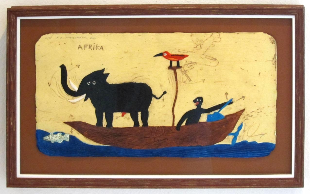Afrika Pirogue 02, gerahmt