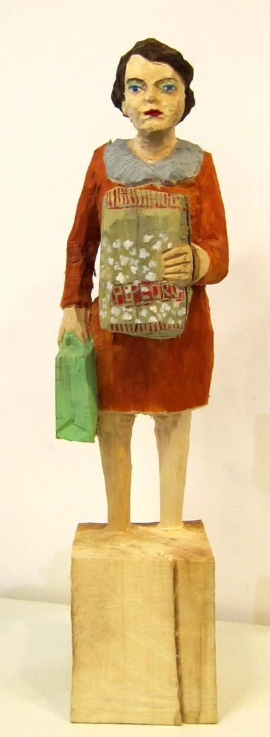 Edeka Frau (872) mit Popcorntüte