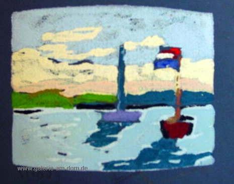 Boote vor dänischer Küste
