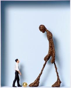 Homage to Alberto Giacometti - Kleiner Mann was nun?