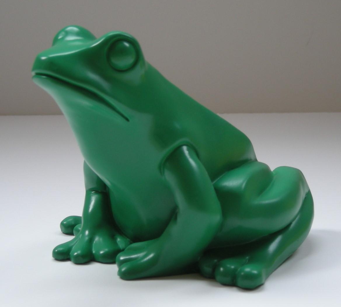 Froschkönig - grün, signiert