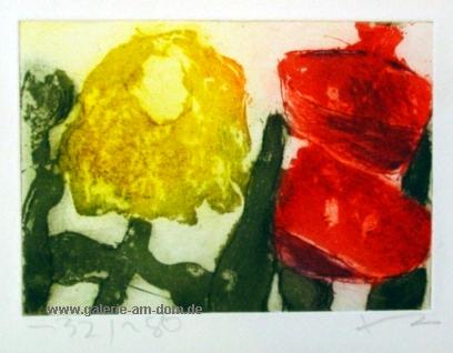 Chrysantheme und Gladiole