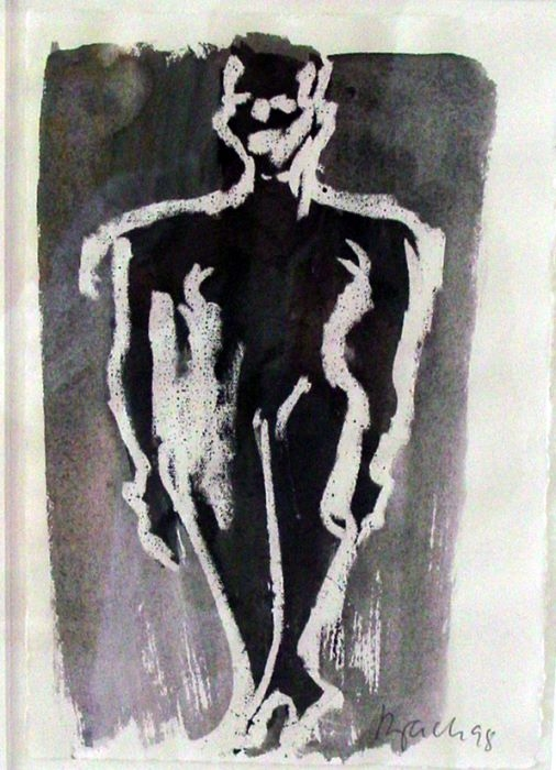 o.T. 1998 (Frau schwarz/weiß)