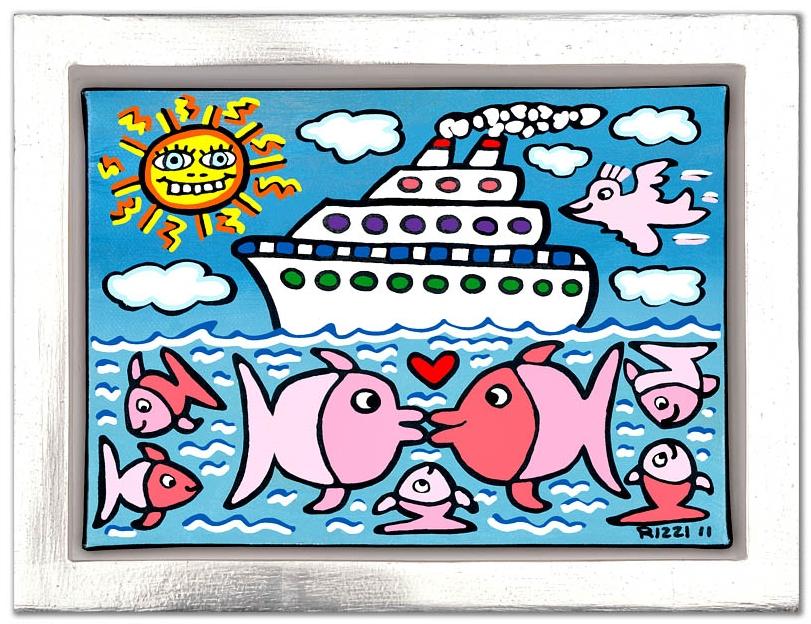 The Kissing Cruise, im Vergolderrahmen
