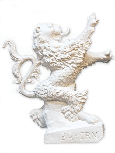 Bayrischer Löwe - weiß