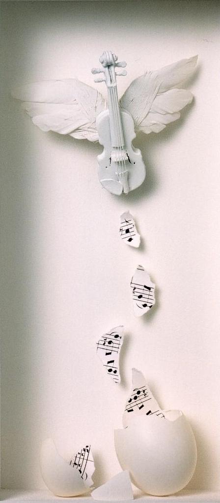 Musik fliegt durch die Luft
