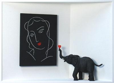 Homage to Henri Matisse - Ein verliebter Elefant