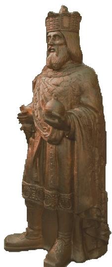 Karl der Große 2014 - bronzefarben, signiert