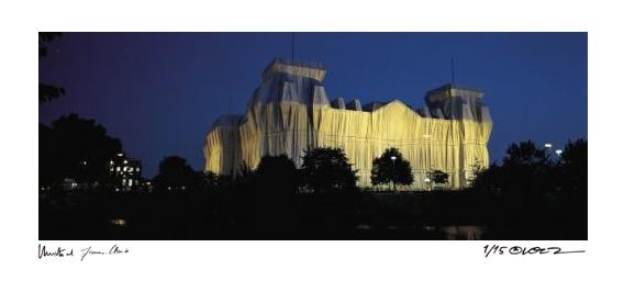 Reichstag Spreeblick nachts