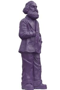 Karl Marx - purpurrot, signiert