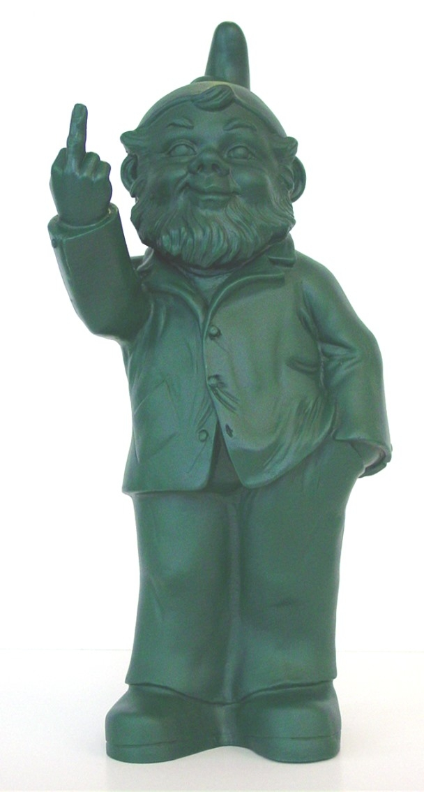 Sponti-Zwerg - grün, signiert