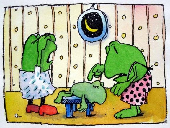 Der Frosch ist Krank
