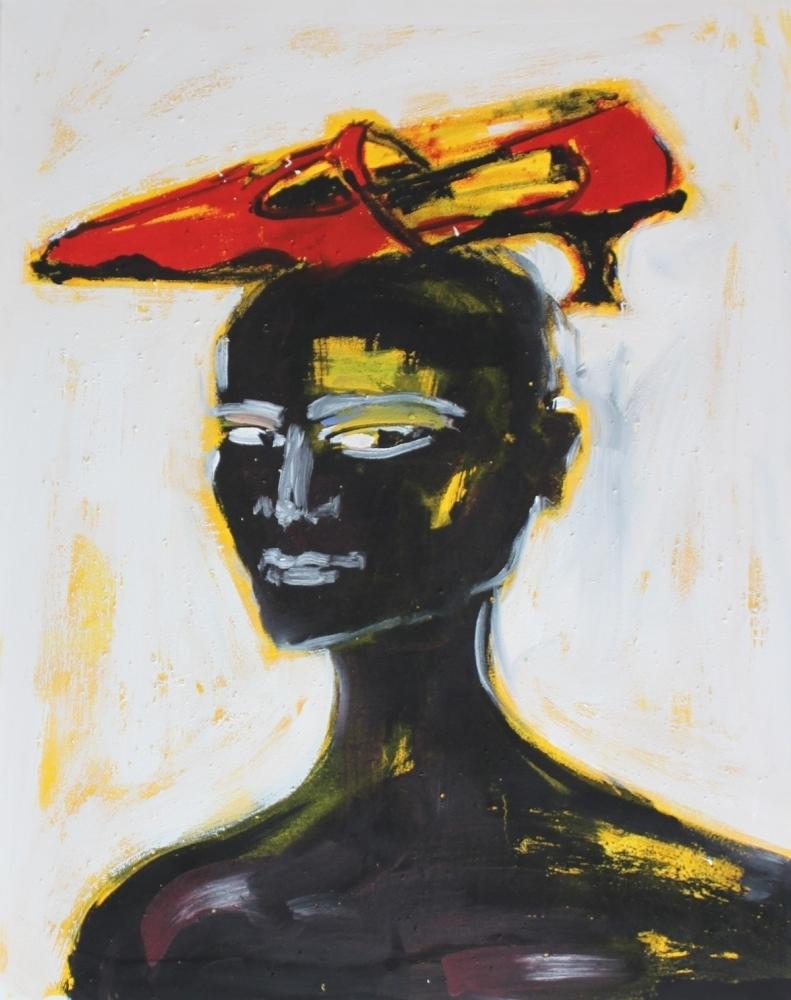 Frau mit Schuh, 2001