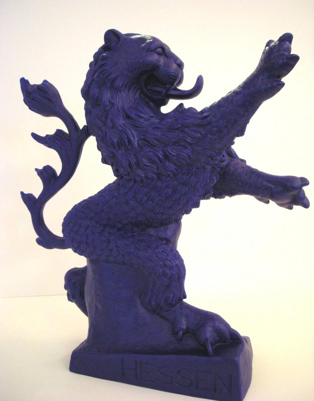 Hessischer Löwe - blau, signiert