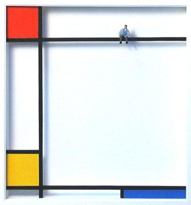 Homage to Mondrian - Mondrian macht Pause