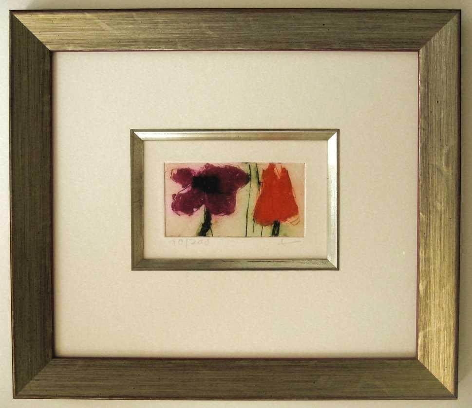 Anemone und Tulpe gerahmt