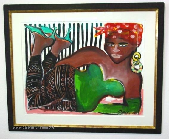 Ohne Titel (Liegende Afrikanerin) 2003