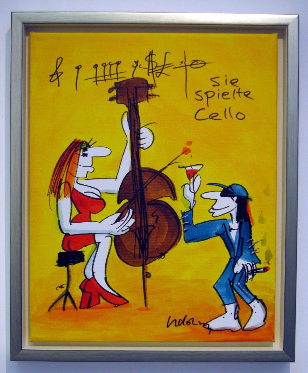 Sie spielte Cello 3 auf Leinwand