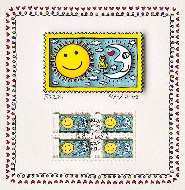 Herzliche Grüße (Briefmarke, Sonne)