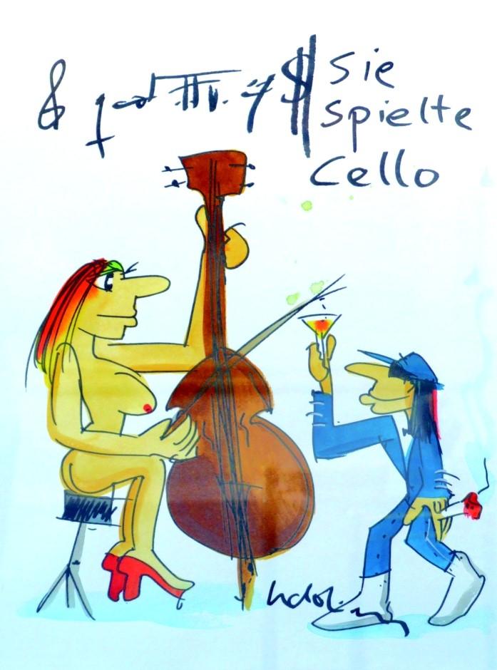 Sie spielte Cello 4 (weiss)