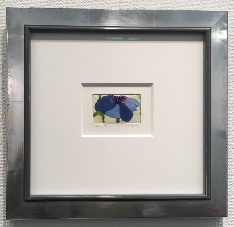 Anemone (blau) gerahmt
