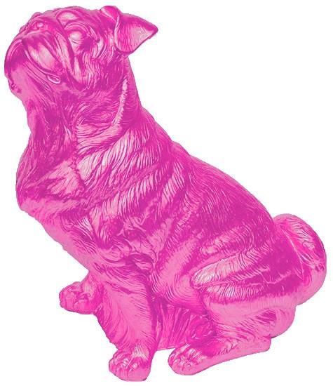 Mops - Pink, signiert