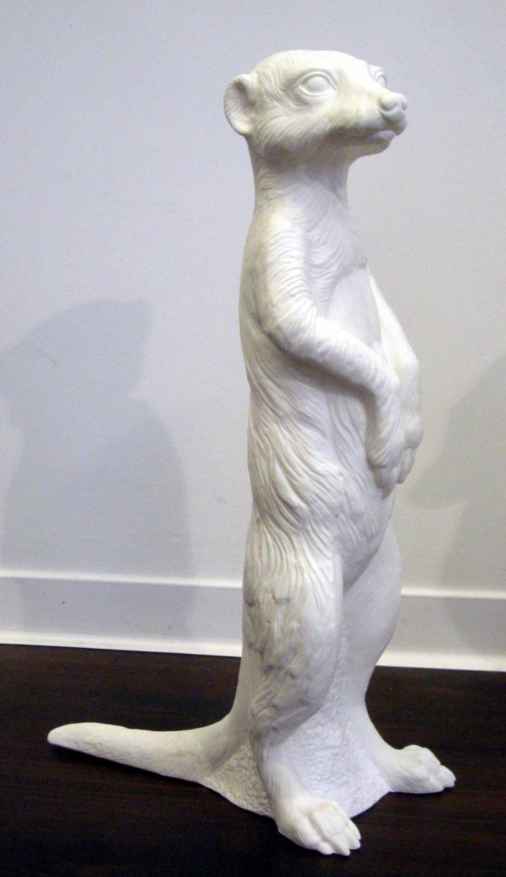 Erdmännchen - weiß, signiert