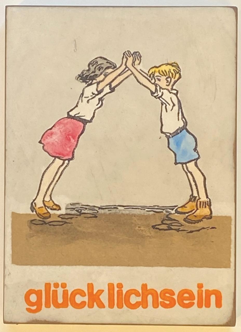 Glücklichsein abklatschen Junge Mädchen