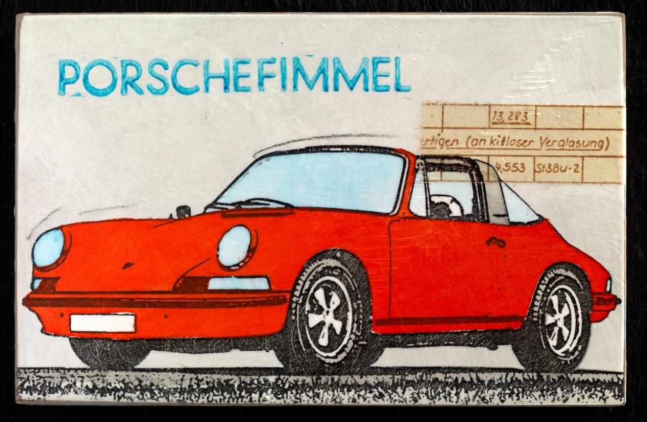 Porschefimmel - Targa in rot - nach links