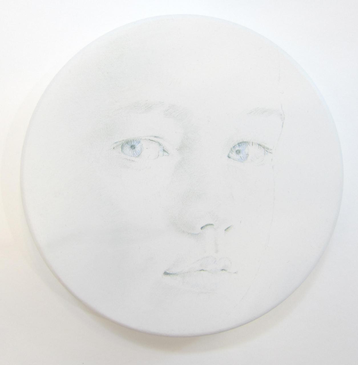 White Tondo No. 13