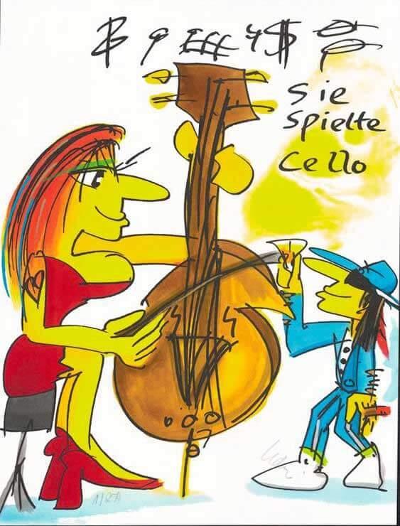 Sie spielte Cello 2020