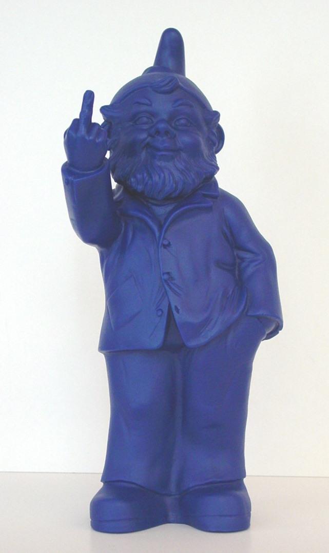 Sponti-Zwerg - blau, signiert